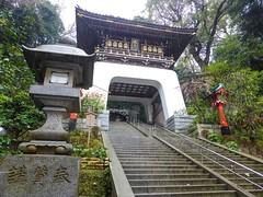 Enoshima-jinja I (Douguerreotype) Tags: rain japan stairs temple gate shrine arch buddhist steps lantern enoshima