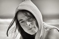 Deep Thought (Luis-Gaspar-Taking-A-Break) Tags: portrait people bw woman portugal girl monochrome face mono nikon iso400 retrato mulher pb f8 carcavelos rapariga d60 monocromatico 12500 55300
