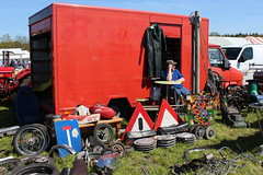 There are many sellers of all sorts of automobilia (Davydutchy) Tags: holland classic netherlands car wheel sign fun junk tank traffic seat nederland used cap lawnmower oldtimer frise hubcap seller friesland niederlande klassiker frysln automobilia evenement frisia youngtime hoornsterzwaag