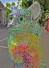 Gruvi  [from Cat'n Around Catskill] (ArtFan70) Tags: sculpture usa ny newyork art animal statue america cat feline unitedstates mosaic catskill delucia gruvi catnaroundcatskill ellendelucia