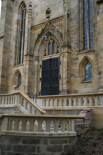 Eingang der Kirche St. Augustin, Coburg