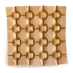 #origami #tessellation which makes me think it is soft... (_Ekaterina) Tags: brown paper origami curve tessellation paperfolding corrugation curvedfolding ekaterinalukasheva
