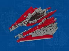 Radean Star (Brickiest Brick) Tags: lego space hobby scifi spaceship moc starfighter