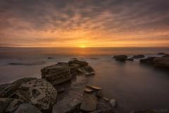 Lateral Drift (Crouchy69) Tags: ocean sea sky seascape beach water clouds sunrise landscape dawn coast rocks long exposure sydney australia mona vale headland