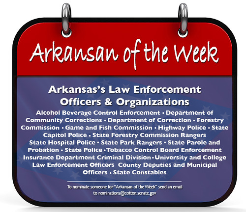 Cotton Recognizes Arkansan of the Week: Arkansas Law