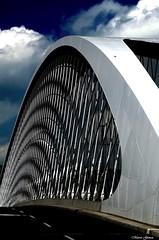 Troitskiy most - Prague (m.genca) Tags: bridge sky white clouds river effects nikon europa europe czech prague euro fiume praha praga ponte most czechrepublic prospettiva prospective troitskiy d7000 troitskiymost