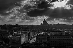 Mystic Rome (savolio70) Tags: bw vatican rome roma clouds mono san nuvole cloudy vaticano sole sanpietro beams mystic biancoenero raggi saintpeter mistico sunraylight stefanoavolio