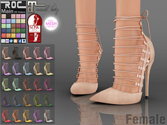 ::ROC:: Audrey Heels (ROC FASHION) Tags: red woman white black hot rome sexy girl up leather shop female nude roc high cool shoes punk pumps toe lace khaki lara footwear heel peep stiletto ankle bohemia suede rigged tmp fitted maitreya slink fatpack roscee