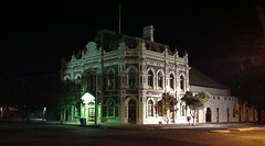 The Trades Hall in Broken Hill at night. (spelio) Tags: australia 2015 email act ipad trades union hall outback broken building rural nsw