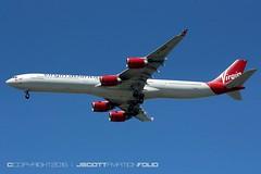 Virgin Atlantic   G-VWEB (j.scottsfolio) Tags: plane aircraft jet airline airbus a340 virginatlantic surfergirl gvweb