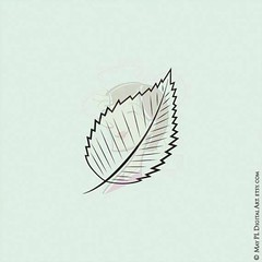 Whimsy White Birch leaf doodle digistamp #whimsical #digistamp #whitebirch #birch #leaf #leaves #autumn https://goo.gl/Sb4KTc (maypldigitalart) Tags: autumn leaves leaf birch whimsical whitebirch digistamp