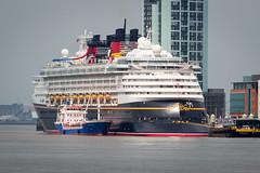 Disney Magic Cruise Ship at Liverpool Pier Head (grahamkinnear) Tags: cruise liverpool mouse pier nikon ship head magic disney mickey pluto d3100