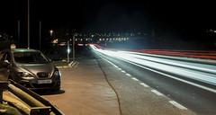 Long exposition (Jordi M.) Tags: road light car night nikon seat longexposition