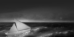 Looks like we're in for nasty weather (Allan Saw) Tags: storm sea ocean clouds waves boat sail yacht
