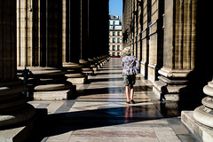 Paris (nelsongedalof) Tags: street urban woman architecture contrast lightandshadows perspective citylife streetphotography streetscene fujifilm fujinon colorstreetphotography candidandstreetphotography nelsongedalof