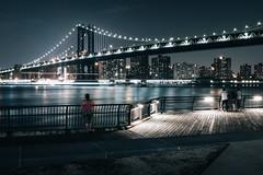 BK nights (andriukas86) Tags: city nyc newyorkcity longexposure bridge light love water skyline architecture brooklyn night manhattan fujifilm i vscocam x100t