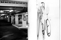 Paintings at the entrance (Nikon FM3A) (stefankamert) Tags: stefankamert parkhaus carpark paintings dof grain ba sw baw noir noiretblanc blackandwhite blackwhite schwarzweis nikon fm fm3a ilford film analog 35mm voigtlnder ultron epson v550 scan hp5