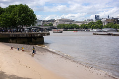 Huh! I'm somewhere on a beach! (OR_U) Tags: city uk summer people london beach water thames river boats oru riverthames summerinthecity 2016