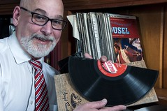 Myerson's record collection included a comprehensive cross section of musical history (dnskct) Tags: music records vinyl half wah crosssection werehere hereios june62016