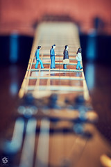 ~ The Beatles? ~ Explored on 13/06/2016 ~ (Chirag Khatri) Tags: people music macro classic rock walking miniature nikon colorful dof bokeh guitar walk famous voigtlander creative experiment indoor blurred figurines figure beatles strings rocknroll fret figures strips mondays thebeatles fretboard recreate macromondays voigtlander58 d7200