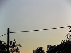 Pole at Sunset (gittermasttyp2008) Tags: strommast strommasten strom powertower powerpole electricitytower energie energy erdseil abend sky sunset sun sundown sunsets sunny sonne sonnenuntergang sonnig sommer germany