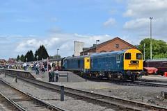 20205 & 20142 at Kidderminster. 20/5/16 (Nick Wilcock) Tags: railways severnvalleyrailway kidderminster 20205 20142 brblue class20 dieselgala