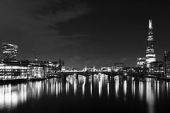 London Skyline (KGB-1965) Tags: blackandwhite london monochrome thames towerbridge reflections londonbridge shard londonskyline eos60d sigma1835mmf18 nikonphoto24