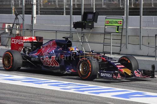 Carlos Sainz Jr in his Toro Rosso in Formula One Winter Testing 2015