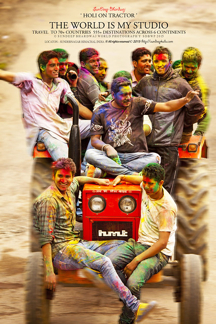 SDBwow HOLI FESTIVALS OF COLOURS on TRACTOR HMT by SunDeepKulluDOTcom IMG_0200 AWJ
