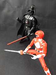 """Back off..."" (Matheus RFM) Tags: ranger power darth vader kaiyodo revoltech shfigurarts"
