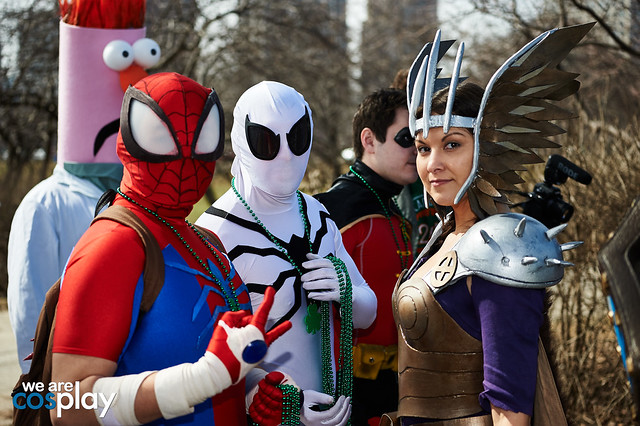 Anime Spider-Man, Future Foundation Spider-Man, Valkyrie Dani Moonstar
