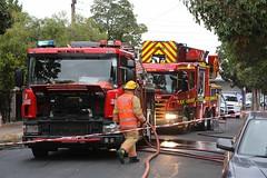 Second Alarm Domestic Fire (adelaidefire) Tags: fire south australian australia service sa metropolitan metz scania mfs forestville 0190 rosenbauer 1401 samfs sasgar