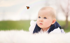 The Butterfly (nicole|w Fotografie) Tags: baby butterfly 50mm outdoor naturallight babygirl schmetterling overcastsky nikond5100