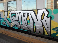 DSCF5207 (en-ri) Tags: train writing torino graffiti lemon giallo arrow ru azzurro nero ruka argento