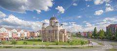 Bistrica (Novica Alori) Tags: city urban clouds serbia grad novisad crkva srbija buildingblocks nebo orthodoxchurch oblaci baka pravoslavnihram