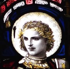St. George -  St. Mary's Dorchester DSC01427.JPG (Chris Belsten) Tags: architecture saints stainedglass stmarys artsandcrafts britishhistory celticsaints ceponting saxonsaints britishsaints dorchesterneogothic freelategothic