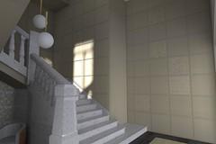 Escalera Render- Piso en Madrid
