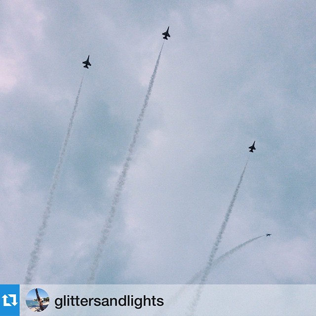 #Repost @glittersandlights・・・Missing man formation, where one Black Knight breaks off and heads off to the west, signifying Mr Lees final flight in the direction of the setting sun.//Witnessed and took this during their rehearsals Yesterday when I was