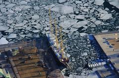 CN Tower (LakeRidge Photography) Tags: lake toronto ontario ice water skyline harbourfront tallship iceflow breakup