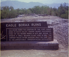 Death Valley - Eagle Borax Works - 1969 (tonopah06) Tags: california ca 1969 print negative deathvalley kodachrome deathvalleynationalmonument instamatic westsideroad deathvalleynationalpark eagleboraxworks
