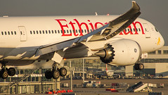 """Ethiopian Boeing 787 about to touch down on Brussels runway 01 • <a style=""""font-size:0.8em;"""" href=""""http://www.flickr.com/photos/125767964@N08/16948631867/"""" target=""""_blank"""">View on Flickr</a>"""