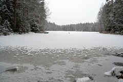Snow covered Lake Hauklampi from the northern end (Espoo, 20120107) (RainoL) Tags: winter lake snow forest espoo finland geotagged january u fin nuuksio 2012 uusimaa nyland esbo hauklampi 201201 20120107 lakesofnuuksio geo:lat=6029375400 geo:lon=2460836000