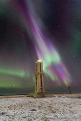 Knarrarsviti (lydurg) Tags: lighthouse dark nightphoto viti becon northenlight norurljs rjmabi knarrarsviti nturmynd top20aurora top20aurora20 auoraborealis baugstaas