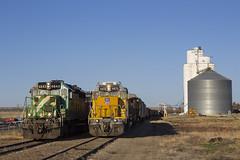 Trading Stories (nwkrailfan) Tags: railroad burlington kyle colorado pacific union genoa kansas caruso flagler limon bethune arriba stratton goodland kanorado emd sd402 seibert sd45t2