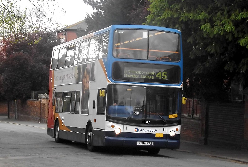 Stagecoach Trident ALX400 KX04RVJ 18107 in Wellingborough, 22/04/2015. (MKT