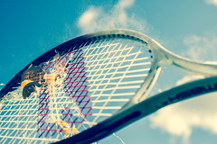 Tennis Egg (Ant Baggins) Tags: sky stilllife food cloud sport scotland hit smash break action glasgow ant egg shell fast sunny scatter tennis flour tennisball paisley racket eggshell fastshutter kerrigan shuter antkerrigan