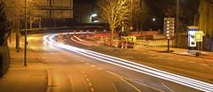 ADZMB. (universaldilletant) Tags: night nacht frankfurt autos kurve strase