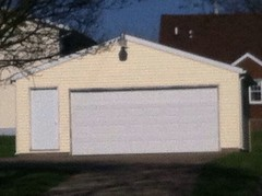 24' X 24' Front Gable with man door on front.