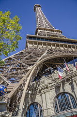 The Paris (Preston Ashton) Tags: vegas blue sky usa paris tower sunshine america hotel us desert lasvegas nevada eiffeltower sunny eiffel casino replica northamerica gamble theparis