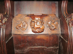 Parish Church of St Laurence, Ludlow (pefkosmad) Tags: wood uk england church worship shropshire seat carving medieval ludlow holy seating middleages anglican stlaurence hallowedground churchofengland parishchurch misericord englandsthousandbestchurches